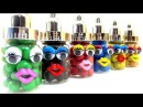 Learn Colors With M&M's Animation Toys Surprise Peppa Pig Goofy Minnie Mouse Hello Kitty Snow White