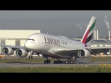 Новый Emirates А380 посадка конвейером Aborted Landing / Touch and Go of EMIRATES A380