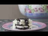 Десерт без выпечки с печенья Орио.  Детская кухня
