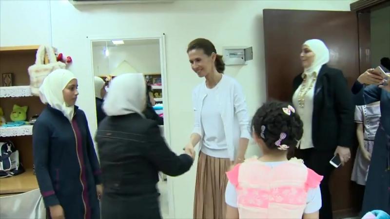 Асма аль-Асад посетила приют для детей-сирот в районе Рукн аль-Дин, Дамаск