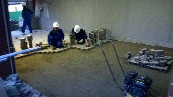 Укладка тротуарной плитки с подготовкой основания www.nebessagroup.ru