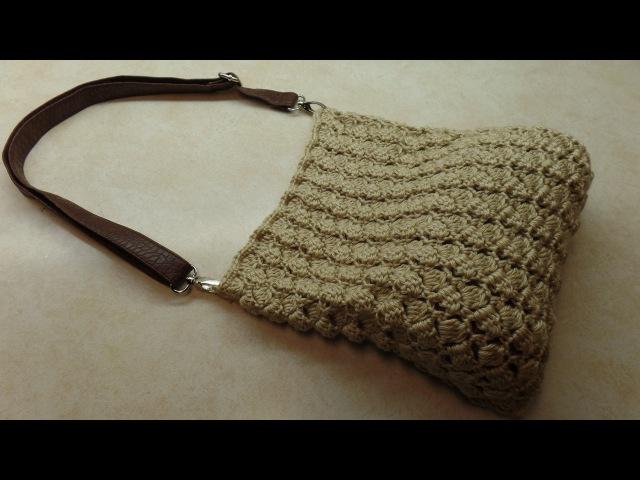CROCHET How To Crochet (SideSaddle Stitch) Handbag Purse TUTORIAL 309 LEARN CROCHET DYI