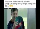 Messi and Neymar 😂 Tag that friend that's obsessed with snapchat👇 -  #Football #Messi #Soccer #Skill #Fifa #Futbol #Ronaldo #Funny…""