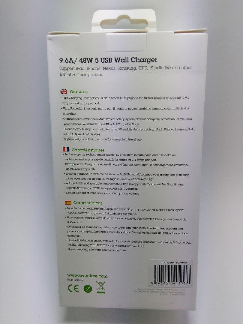 Aliexpress: Самая мощная зарядка от Avantree - Павер Трек на 48W 9.6A