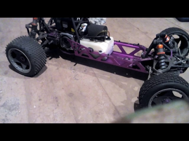 Baja 5b clone with rovan 26cc first start