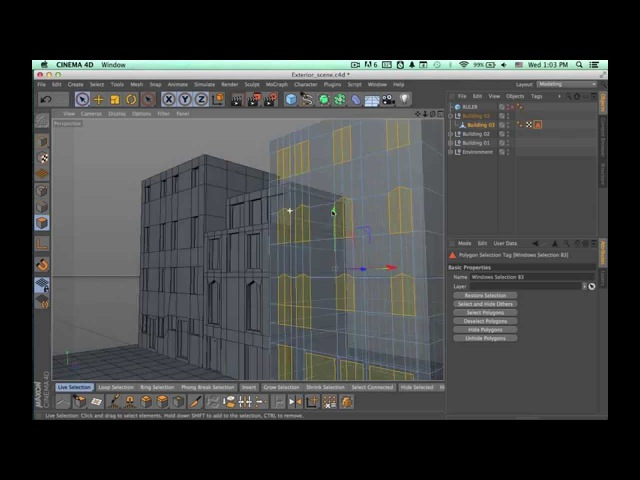 Tutorial: Environment Creation in Cinema 4D: Part 1-3