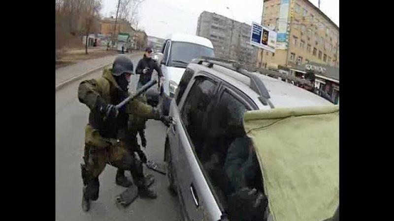 Оперативное вмешательство на дороге! Спецназ в работе! Милиция и другие органы правопорядка!