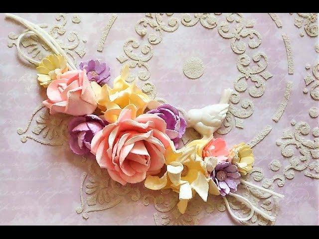 Розы. Мастер класс цветы из бумаги. Скрапбукинг, ч.9
