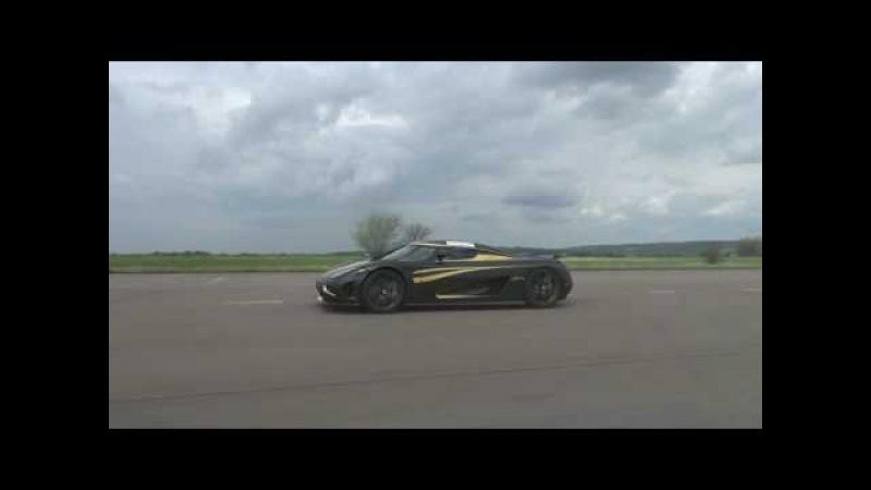 [50p] Koenigsegg Agera Hundra vs Bugatti Veyron 16.4 cameraview Gustav without onscreentext
