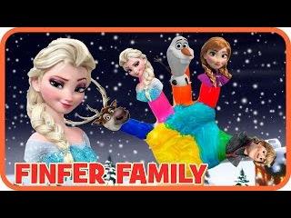 Frozen Finger Family Song - Kristoff, Anna, Olaf, Elsa, Sven - Nursery Rhymes