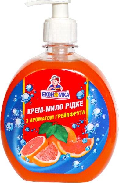 Крем-мило рідке з ароматом грейпфрута, Економка, 460 г