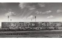 Тольятти: Стелла-панно 50 лет СССР (Радость труда) в октябре 1980 года