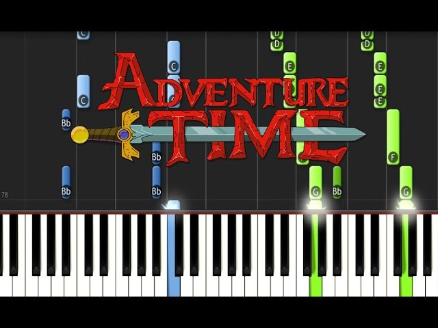 ADVENTURE TIME - Ultimate Piano Medley (Synthesia Tutorial)