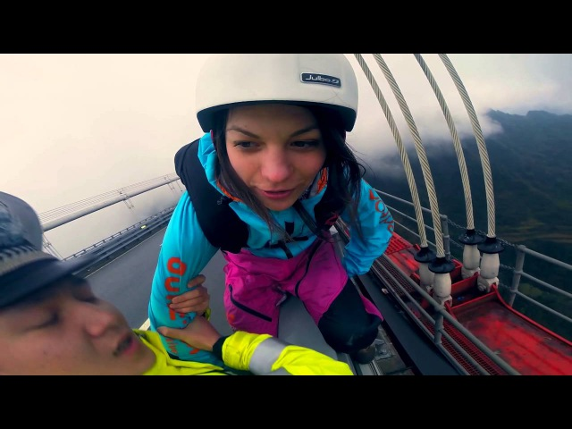 Zero Fox Given Police Grab BASE Jumper, But She Jumps Anyways!