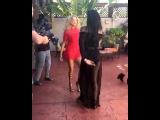 Rose Bertram and Chanel Iman dancing Salsa