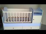 Кроватка - трансформер от Veseliil Company (маятниковый механизм)