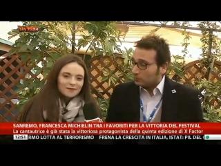 Francesca Michielin - Intervesta SkyTG24 (13/02/16)