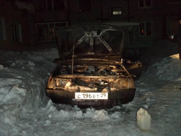 Семейный конфликт закончился поджогом автомобиля