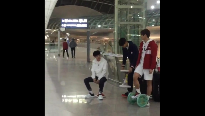 03.04.16 Incheon Airport HM Recording [Fancam]