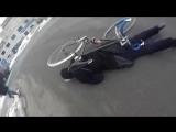 Авария велосипедиста и пешехода.
