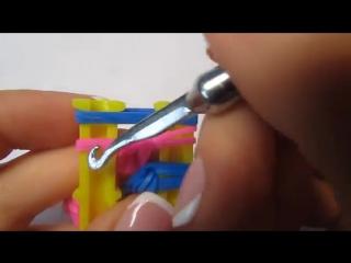СУМКА для кукол из резинок на рогатке