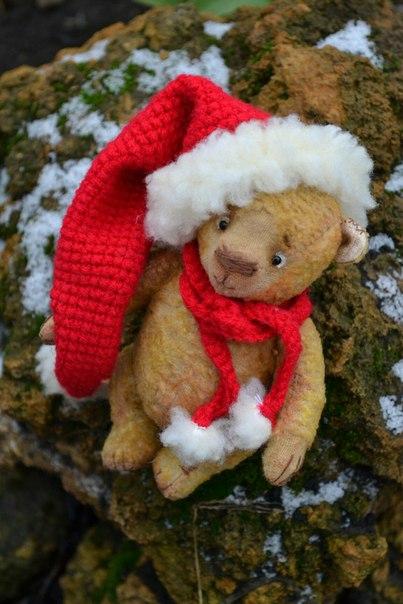 Рождественский мишка (4 фото)