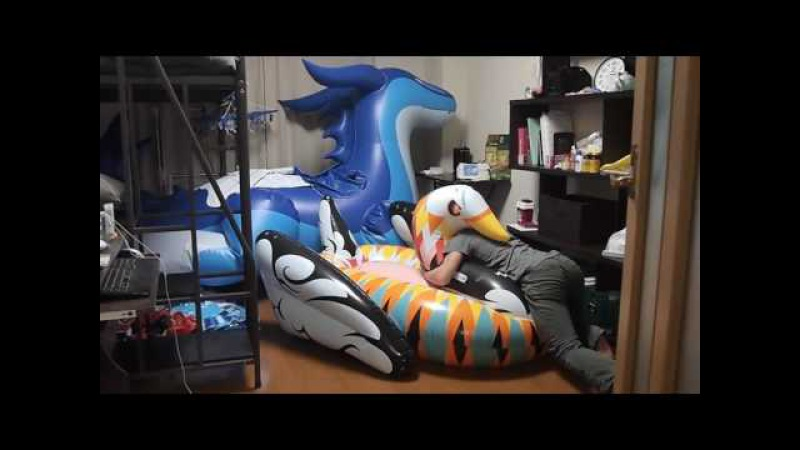 Funboy colorful inflatable swan riding