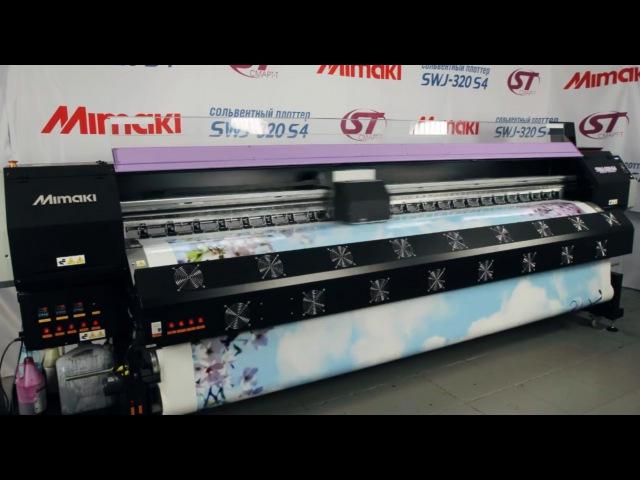 Производство натяжного потолка с фотопечатью на плоттере Mimaki SWJ-320