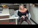 ALA Nylons black stockings and heels