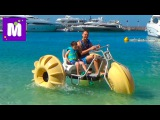Макс в Дубаи День#10 катаемся на катамаране трицикле  по морю покупаем сувениры на рынке