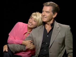 Pierce Brosnan and Emma Thompson adorable interview about beauty and aging