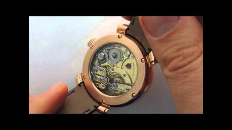 BIG 57mm solid gold 14K minuter repeater day date calendar moonphase chronograph