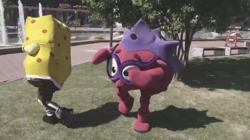 Спанч Боб vs Смешарик