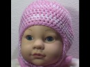 How to make Baby Crochet knit ENGLISH Hat with Ear Flaps Tutorial Free Online Class Art