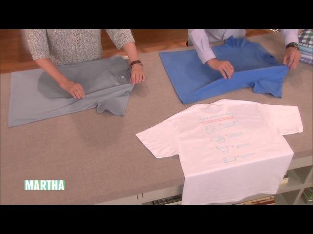 How to Fold a T Shirt Martha Stewart