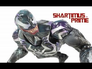 Play Arts Kai Venom Variant Square Enix Spider Man Toy Action Figure Review