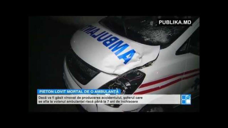 ACCIDENT TRAGIC la Ialoveni. Un bărbat, lovit mortal de o ambulanţă