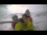 Покатушка на снегоходе в гора Полярного Урала, месяц Май! Опатная лавинаGA 05082015