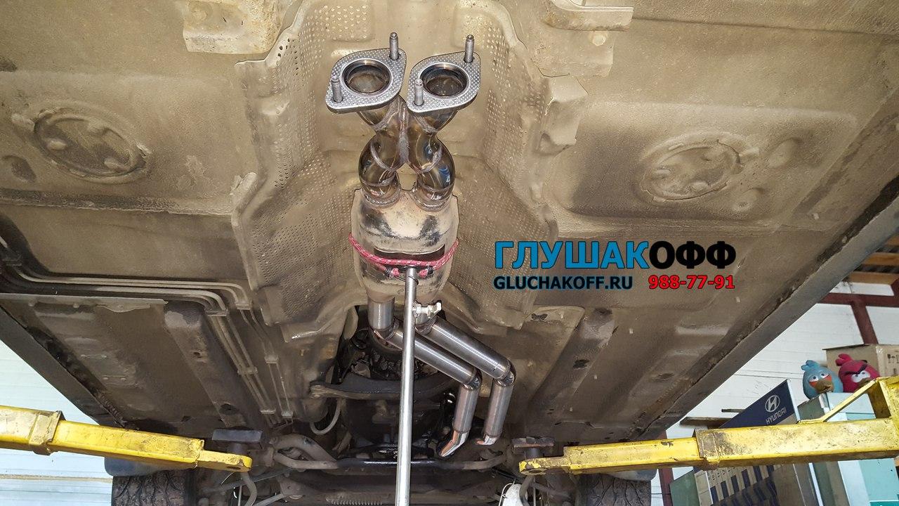 Тюнинг выхлопа на BMW E34 M50B30 - Замена штатного глушителя на нержавейку