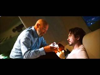 Obadiah takes arc reactor from Tony