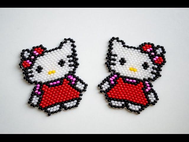 КИРПИЧНОЕ ПЛЕТЕНИЕ | Hello Kitty из бисера