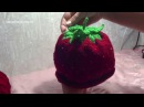 Вязание спицами Шапочка шапка Клубничка для девочки