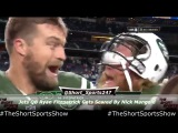 New York Jets QB Ryan Fitzpatrick Gets Scared During Interview By Nick Mangold
