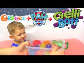 Желейная ванная с огромным Орбиз и плавающий Щенячий Патруль. Gelli Baff, Giant Orbeez, Paw Patrol