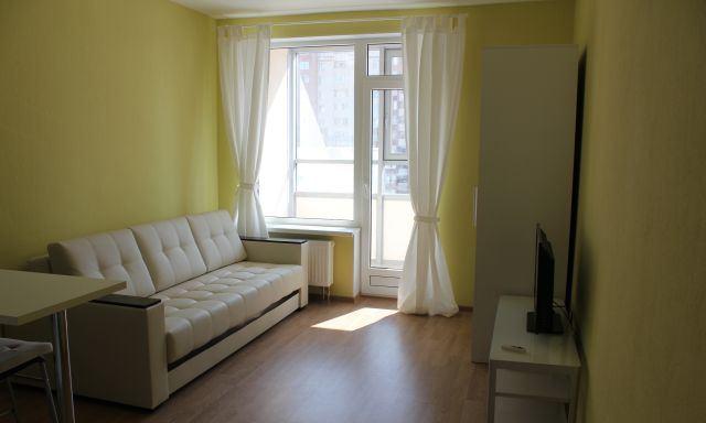 Интерьер квартиры-студии 27 м (с лоджией) в Санкт-Петербурге.
