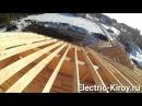 Электромонтаж в деревянном домеосвещение мансарды