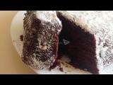 Постный шоколадный пирог  с вишней - пальчики оближешь!