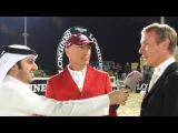 Vladimir Tuganov CSI 3*W Sharjah 22,01,2016 Interview for Dubai TV