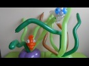 N° 91 Fond marin , seabed and fish centerpiece balloon tutorial