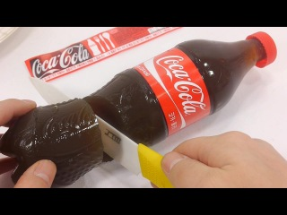 How To Make Real Coca Cola Drinking Water Pudding Jelly Cooking Learn the Recipe DIY 리얼 콜라 푸딩 젤리 만들기